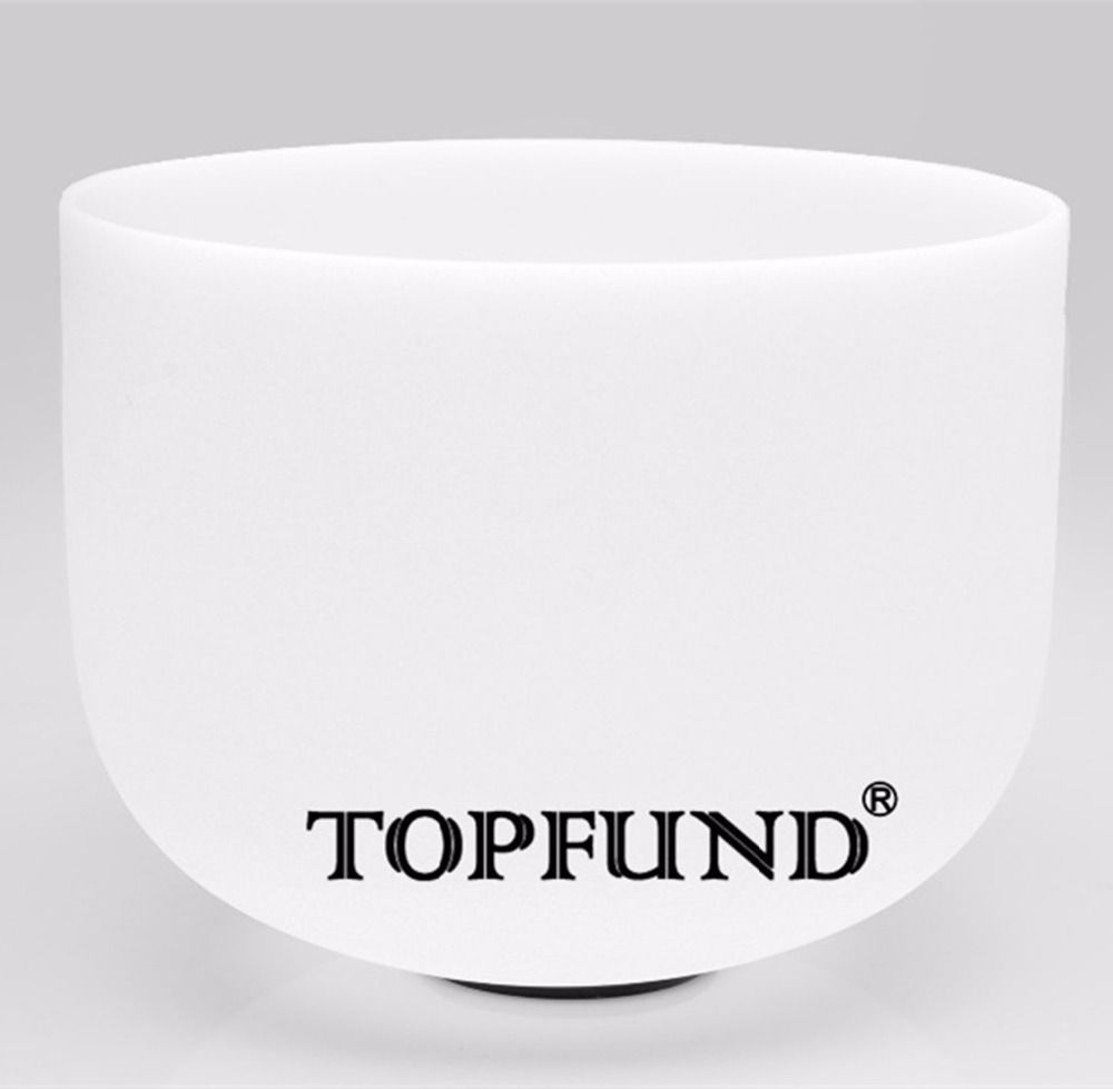 TOPFUND Frosted Quartz Crystal Singing Bowl B Note Crown Chakra 8 - local shipping