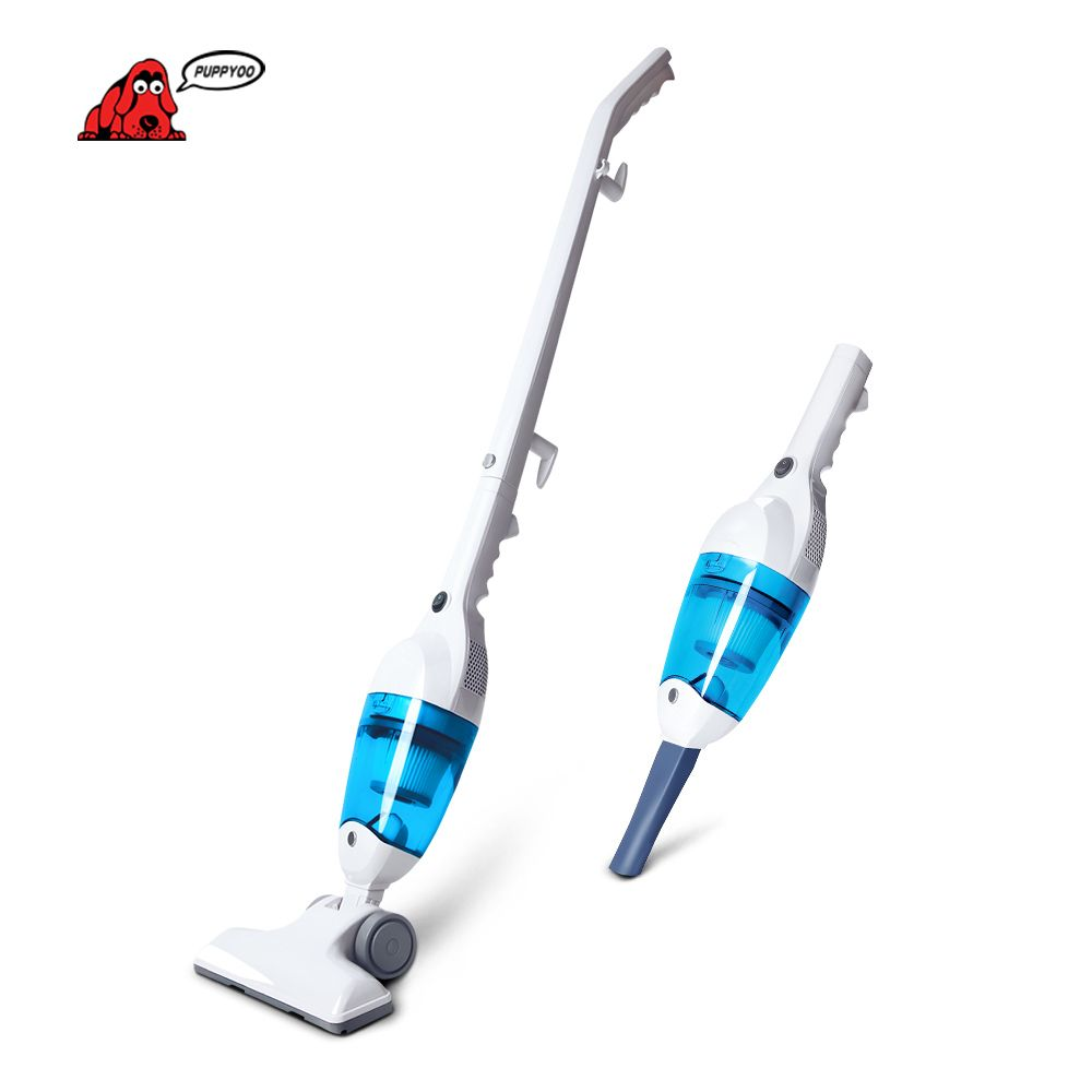 PUPPYOO Low Noise Mini Home Rod Vacuum Cleaner <font><b>Portable</b></font> Dust Collector Home Aspirator Handheld Vacuum Catcher WP3006