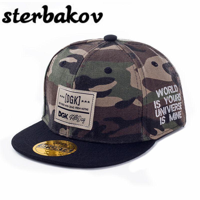 Sterbakov marque gorras casquette de baseball camouflage DGK motif hip hop plat langue casquette garçon fille snapback crianca soleil chapeau ajusté chapeaux