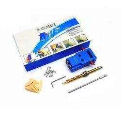 Allsome Mini Lubang Saku Kit + Obeng + Langkah Bor Bit + Clamp + Kunci dengan Kotak untuk Kreg Berjoget woodworking Alat HT1145