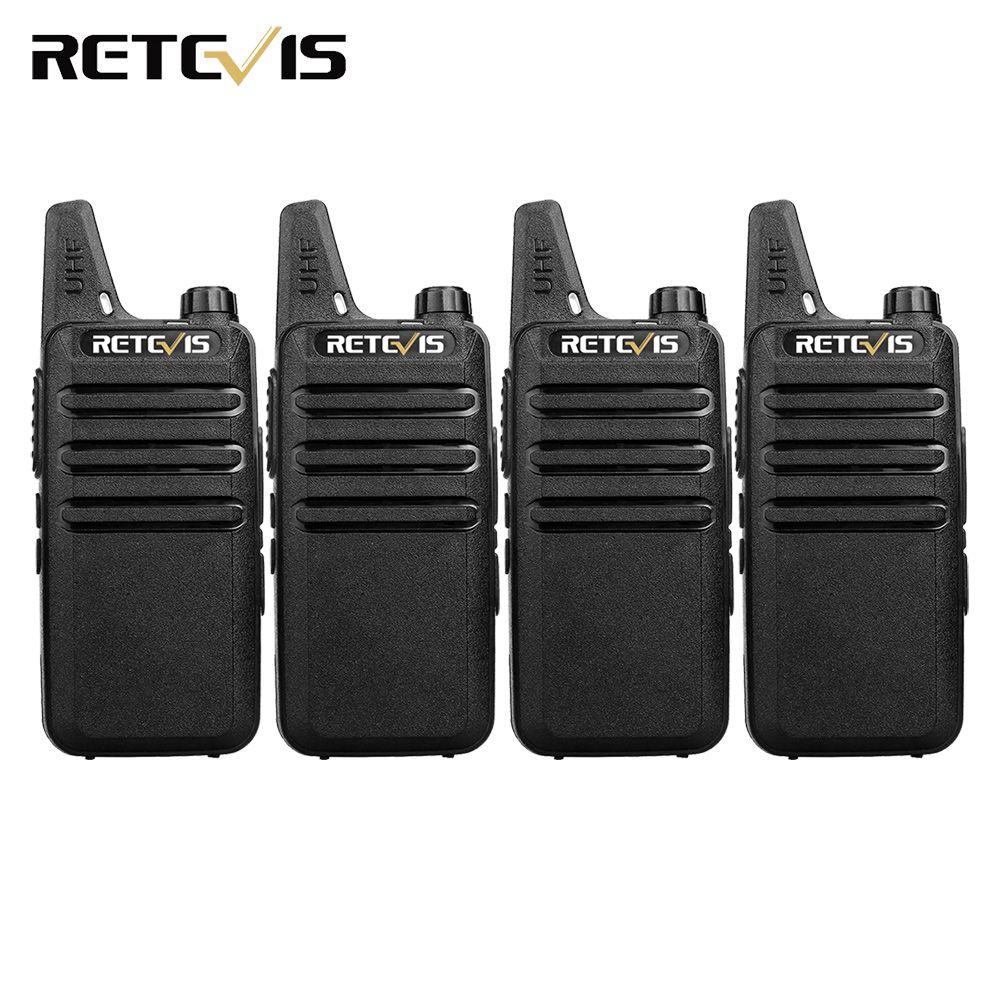 4pcs Handy Walkie Talkie Retevis RT22 2W 16CH UHF CTCSS/DCS VOX Scan Ham Radio Hf Transceiver Portable 2 Way Radio Comunicador
