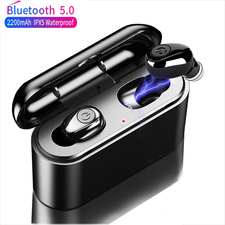 X8 TWS True Wireless Earbuds 5D Stereo X8 Bluetooth Earphones Mini TWS Waterproof Headfrees with 2200mAh Power Bank Earphones