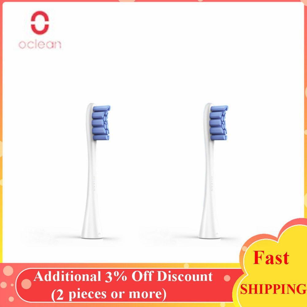 Têtes de brosse à dents de rechange Oclean One/SE 2 pièces d'origine pour brosse à dents sonique électrique pour brosse à dents automatique Oclean SE