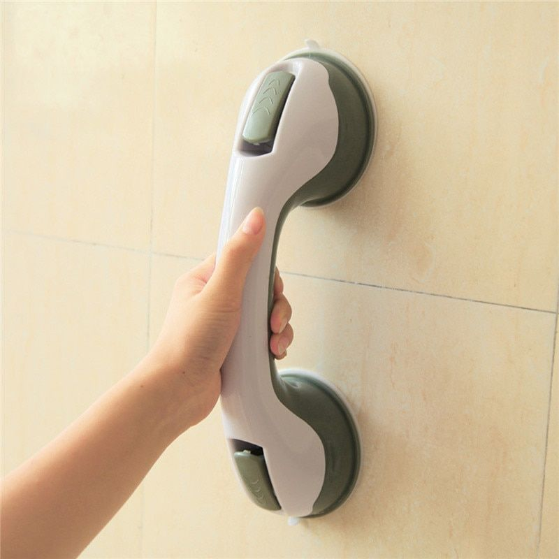 Support de support en plastique accessoires de salle de bains main courante de toilette pour enfants personnes antidérapantes aspire poignée de porte poignée de sécurité à la maison