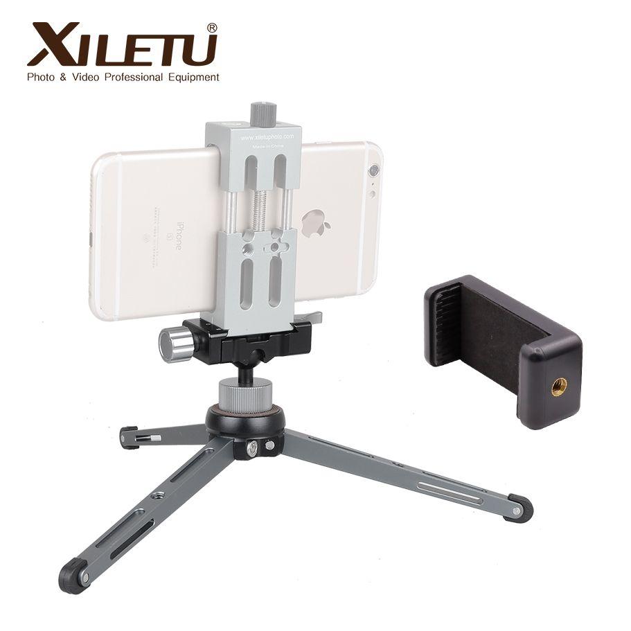 XILETU XT-15 + BS-1 miniatur ball kopf mit Telefon Stehen Leichte desktop Mini Stativ Für Smartphone DSLR kamera große lager
