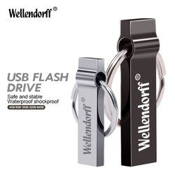 Waterproof Pen Drive 4G 8G 16GB Cle USB Stick With Key Ring External Storage Metal USB Flash Drive 64G 32G Pendrive Flash Drive
