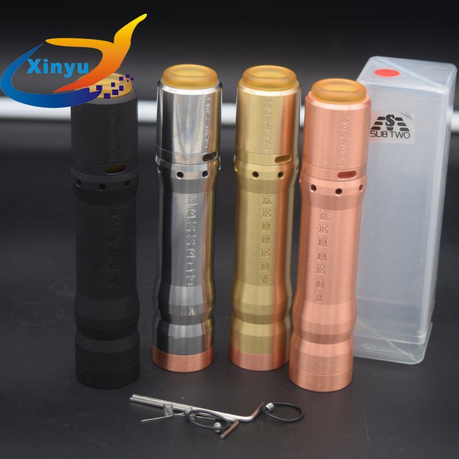 2018 DATE Kennedy 25 Kit Vindicator Mech Mod Kit 18650 20700 21700 Batterie 26mm diamater en laiton rouge cuivre Vaporisateur mod KIT