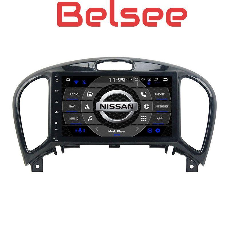 Belsee Octa Core PX5 Ram 4GB Rom 32GB Android 8.0 Car Radio Head Unit Audio GPS Navigation Multimedia for Nissan Juke 2004-2016