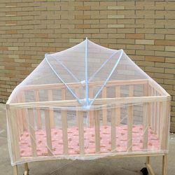 1 Pcs Arqué Grande Taille Lit Bébé Filet Lit D'été bébé Berceau Lit Compensation Blanc Mesh Net Anti-Moustique Insecte Bébé soins