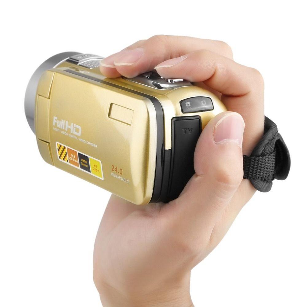 CHAUDE Nuit Portable Vision Full HD 1920x1080 3.0 Pouce 24MP LCD Écran 18X Zoom Numérique Vidéo Caméra Caméscope Mini DV