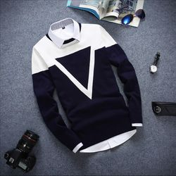 NEW 2019 casual Long-sleeved pullover sweater O-neck sweater