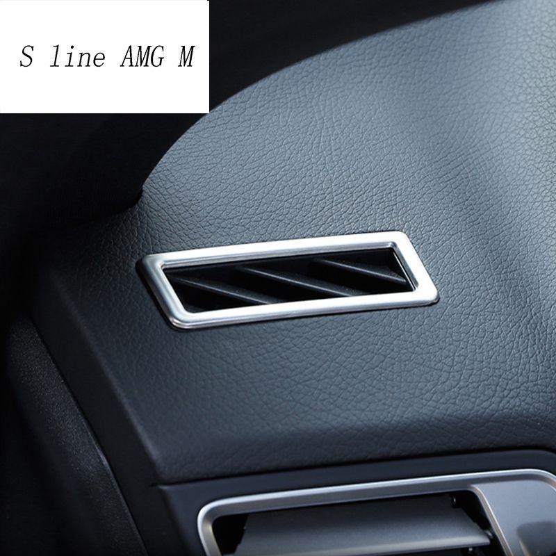 Für Mercedes Benz E-klasse Coupe W207 C207 2009-2016 Auto-Styling Armaturenbrett Klimaanlage Vent Abdeckung Aufkleber dekoration Trim