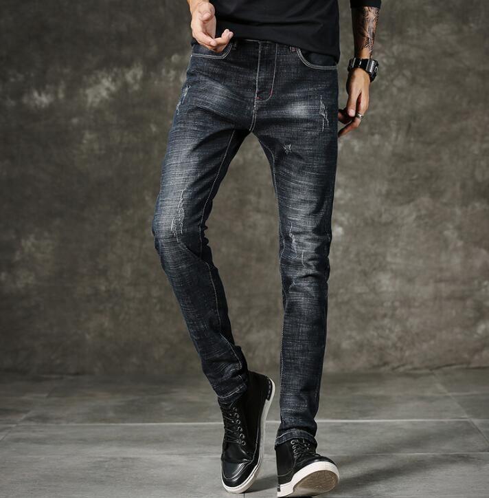 2018 offres spéciales nouveau Style populaire casual hommes Jeans bonne qualité pleine longueur Jean livraison gratuite