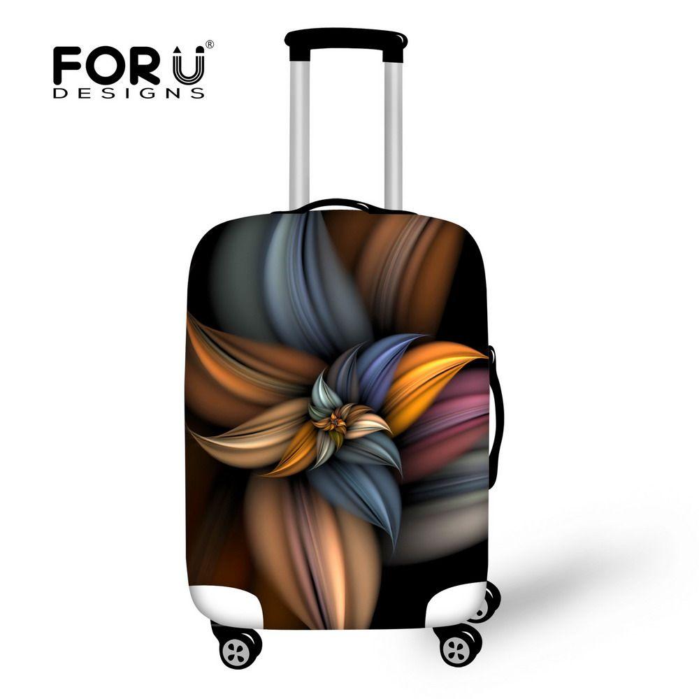 Forudesigns/3D цветок путешествия Чемодан Защитная крышка для 18-30 дюймов тележка чемодан эластичные Багажник Случае Пыль Покрывает с застежкой-мо...