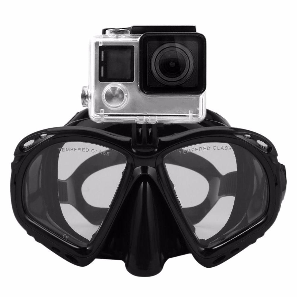 Professionelle Tauchen Maske Scuba Schnorchel Schwimmbrille Tauchen Ausrüstung Geeignet Für Die Meisten Sport Kamera