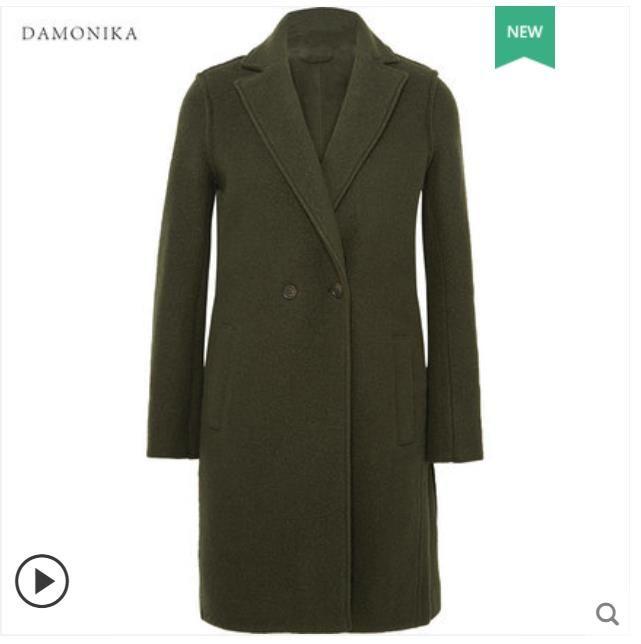 Die hohe-end doppelseitige kaschmir mantel hat eine lange anzug kragen für frauen