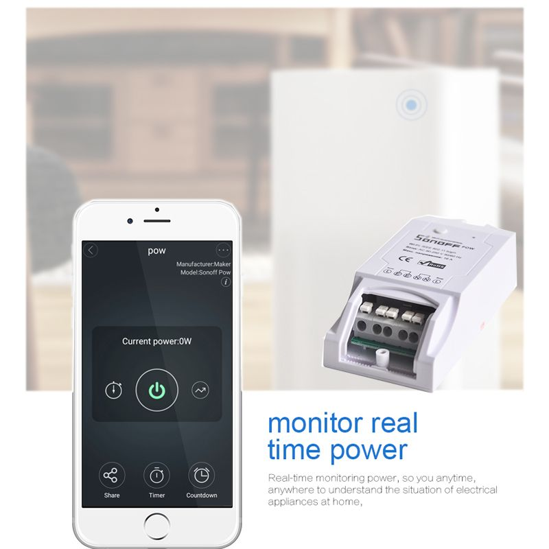 Sonoff Pow Smart Home Automation Module Universal Timer Power Consumption Measurement 16A/3500w Diy Wireless Switch on/off
