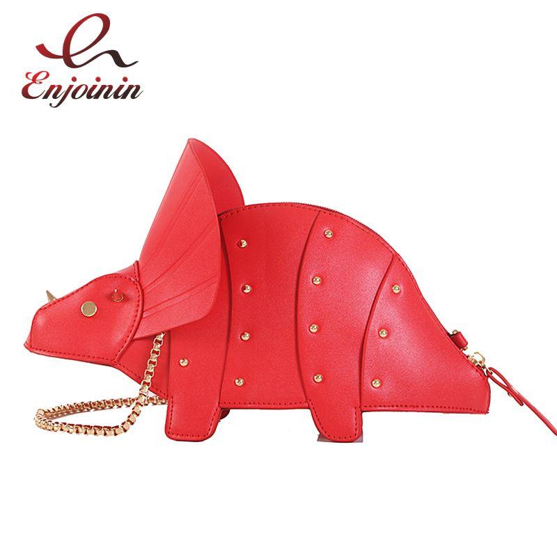 Nouveau 3D licorne dinosaure conception Pu mignon fourre-tout sac à bandoulière Mini sac pochette mode sac à main Shpulder sac chaîne sac à main