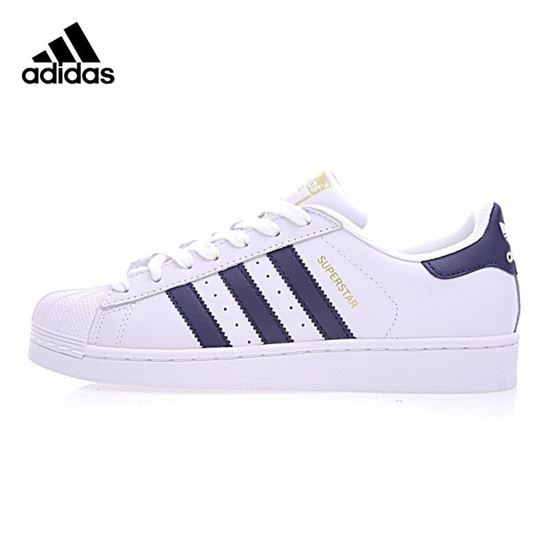 Adidas Superstar Clover Gold Label Woman Skateboarding Shoes, White, Non-slip Breathable Wear-resistant S81014