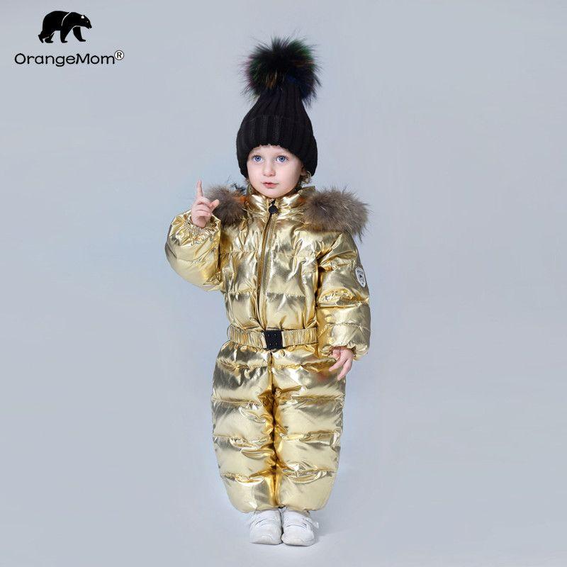 -35 degree Orangemom 2018 Children's Clothing Windbreaker Baby Children's winter jumpsuit Down jacket coat for girl boys clothes