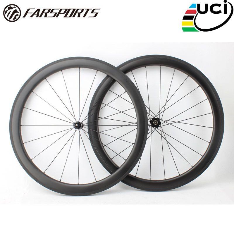Weit sport FSC50-CM-23 DT350 50mm 23mm UD carbon aussehen bike räder, 23mm breite OEM fahrradklammer Chinesischen laufradsatz