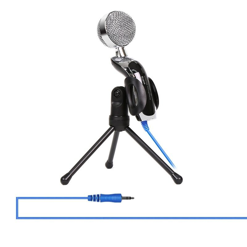 Universal Plug & Play USB Microphone Home Studio Condenser Microphone for Skype Recordings for YouTube Google Voice Search Steam