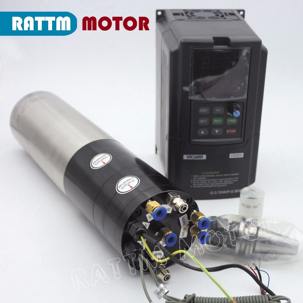 3KW CNC ATC SPINDEL MOTOR KIT BT30 & 3.7KW SUNFAR marke Inverter 380 v FÜR CNC FRÄSEN MASCHINE