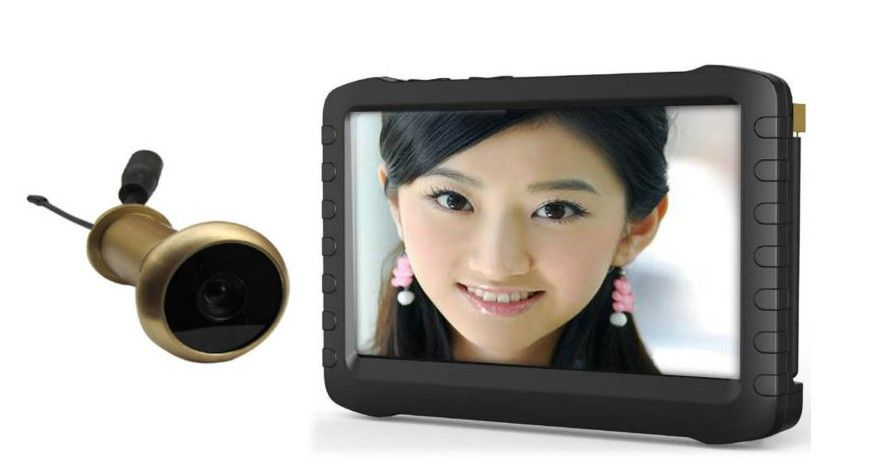 3RD CCTV HD Mini Door Camera Low 0.008lux IR Small Size Camcorder With Audio For Security Surveillance And Monitor