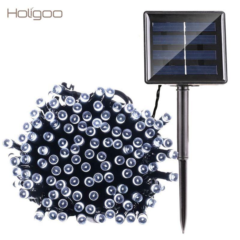 Holigoo 200 LED de la Secuencia Solar Luces de Hadas Luces de Navidad A Prueba de agua 100 Led Cadena de Luz Al Aire Libre Garden Party de La Boda Guirnalda