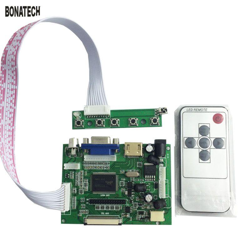 Carte de pilote LCD 7 pouces 50pin AT070TN90/92/94 pour voiture avec télécommande + tableau de bord