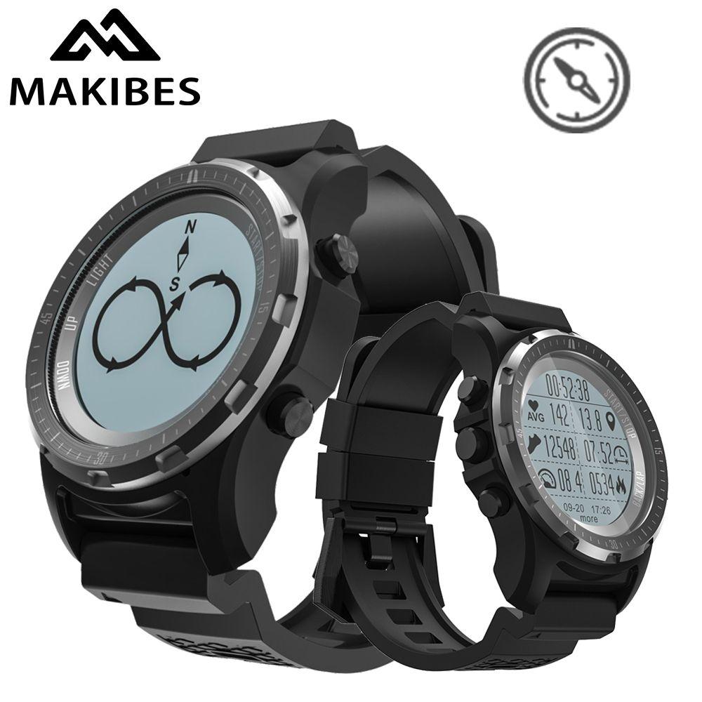 Makibes BR2 GPS Compass Speedometer Sport Watch Bluetooth HIKING Heart Rate monitor Multi-sport Men fitness tracker Smart Watch