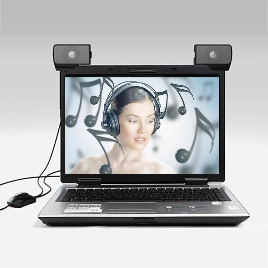 1 Pair Cute Mini Portable 3.5mm Interface Audio Sounder Speaker For Computer Laptop
