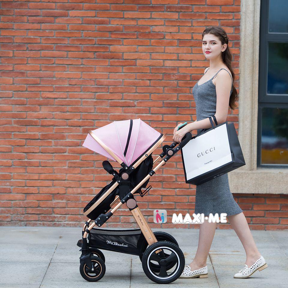 Newborns Baby Stroller 3 2 in 1 High Views Pram 4 Wheels Travel System Foldable Carriage Carrinho-de-bebe 3 2 em 1 Cochecito