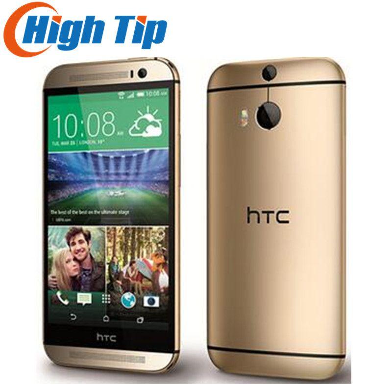 M8 Original Unlocked HTC ONE M8 Quad Core Mobile phone Android 4.4 2GB RAM 16GB/32GB ROM 4G LTE 3 Camera Free Ship Refurbisehd