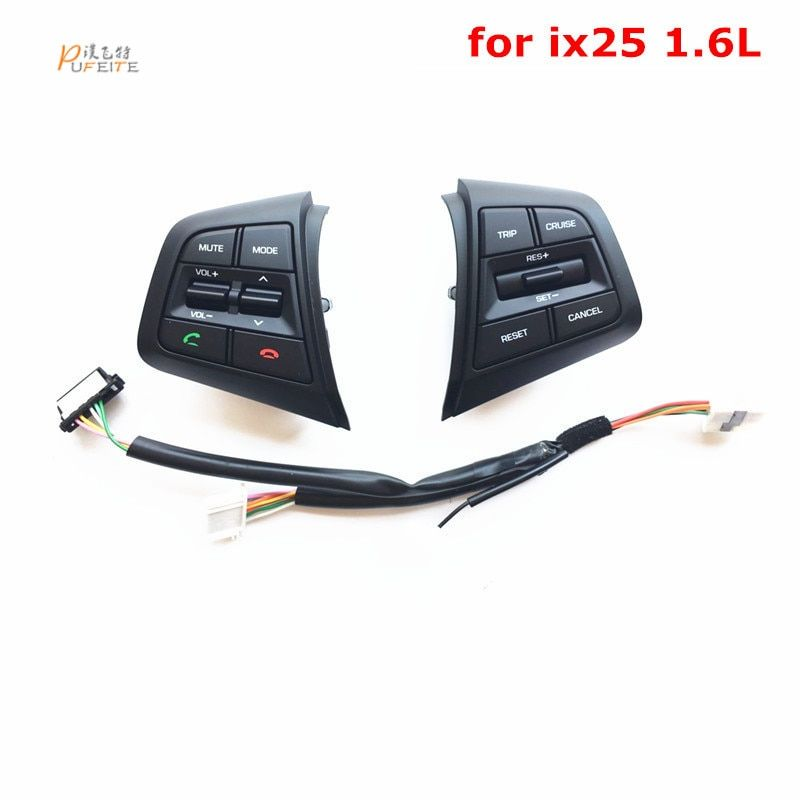 Steering Wheel Button For Hyundai ix25  1.6L Multifunction Steering Wheel Control Buttons