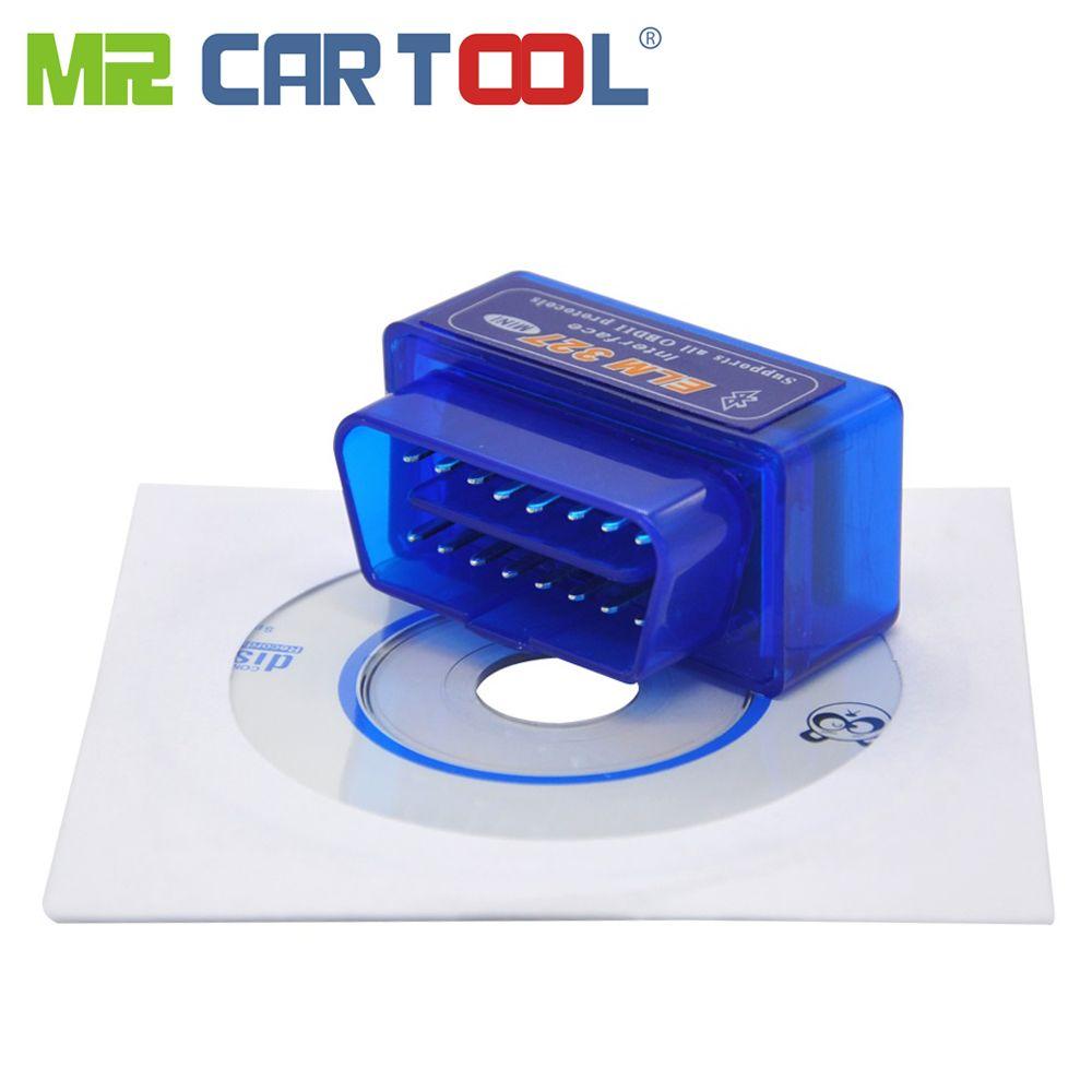 M. Cartool Bluetooth Auto OBD 2 II ODB logiciel général MINI voiture OBD2 ELM327 EML V1.5 V2.1 peut BUS Android couple PC