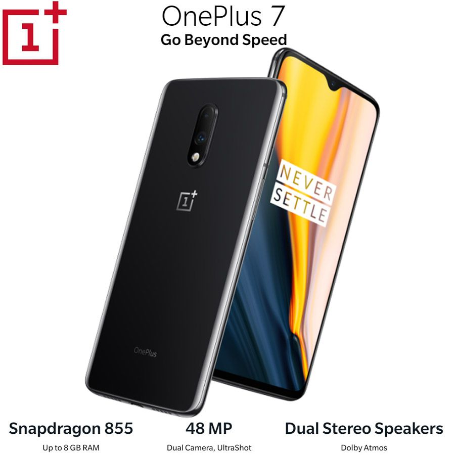 OnePlus 7 Android9.0 Handy 12GB 256GB Snapdragon855 Octa core 6,41 Zoll 2340x1080p 19,5: 9 vollbild 3700mAh NFC 48MP + 16MP