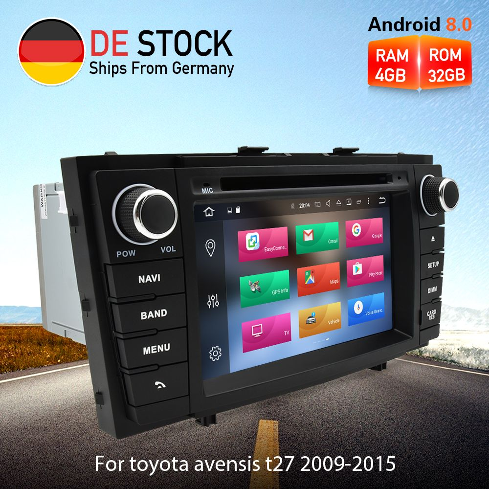Octa Core Android 8.0 Auto Radio DVD GPS Navigation Multimedia-Player Für Toyota Avensis T27 2009-2015 Auto Audio Stereo steuergerät