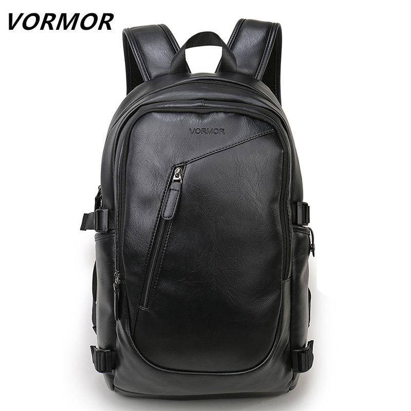 2018 VORMOR Marque étanche 15.6 pouce ordinateur portable sac à dos hommes sacs à dos pour adolescent Hommes Casual Daypacks mochila en cuir mâle
