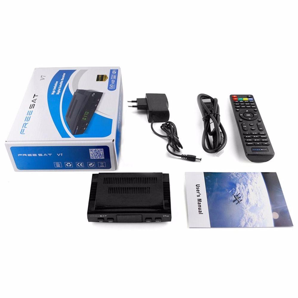 Freesat V7 супер рецепторов спутниковый 1080 P HD DVB-S2 спутниковый ресивер ЕС США Plug Декодер каналов кабельного телевидения + пульт дистанционного у...