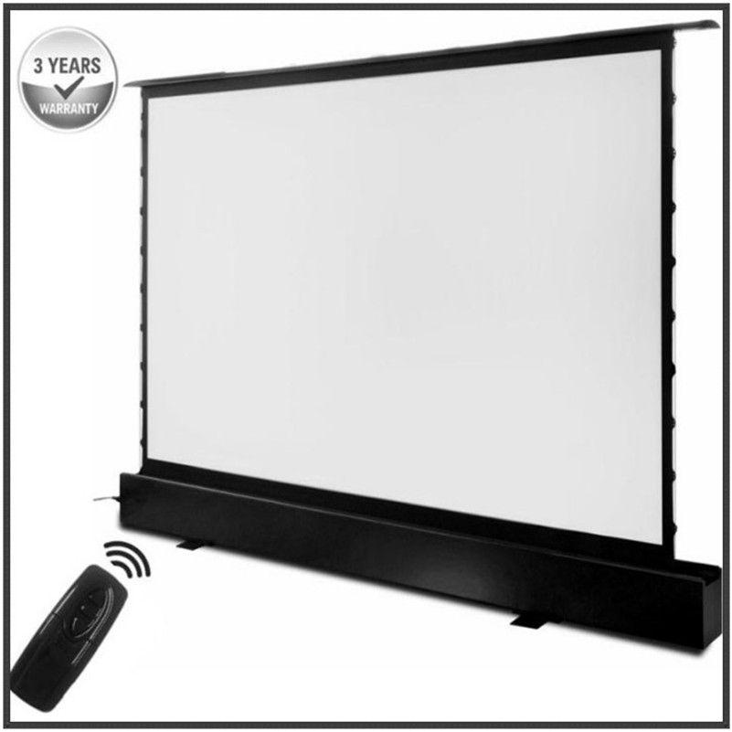 T6HCW, 16:9 HDTV Motorisierte Elektrische Boden rising front projektion bildschirm motorisierten boden stehen bildschirme mit kino weiß