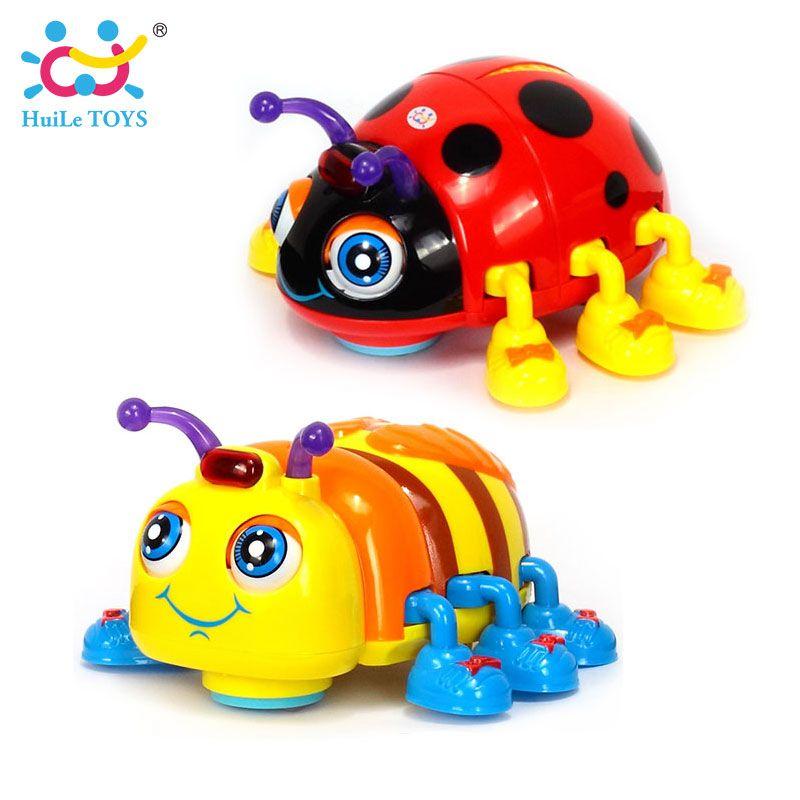 Huile Игрушечные лошадки 82721 Игрушки для маленьких детей детские, Жук Электрический игрушка Би божья коровка с музыкой и светом обучения Игруш...