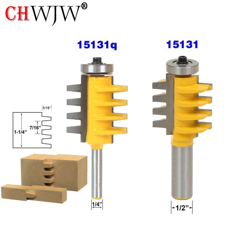 1 PC 1/2 pouce tige Rail et Stile doigt Joint colle routeur peu cône Tenon menuiserie Cutter outils électriques