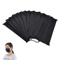 10 шт./упак. черный нетканый одноразовая маска для лица 4 слоя медицинские зубные Earloop активированный уголь Анти-пыль лица хирургические маск...