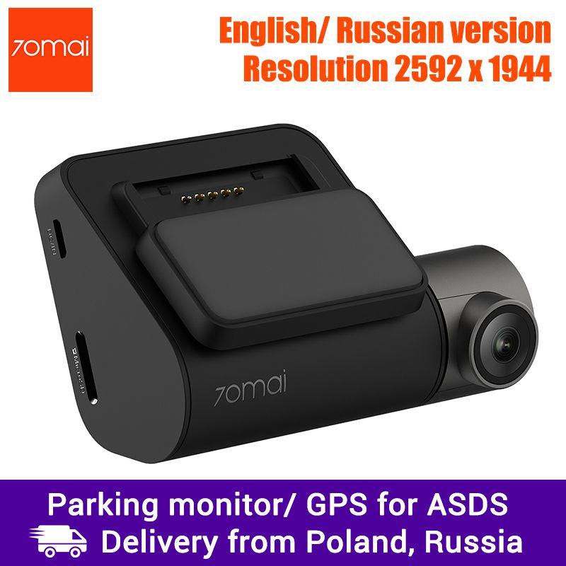 Xiaomi 70mai Dash Cam Pro, voiture DVR 1944 P Super clair, Module GPS en option pour ADAS, moniteur de stationnement, 140 FOV, Vision nocturne