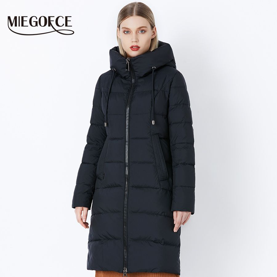 MIEGOFCE 2018 Frauen Dicke Winter Oberbekleidung von Winddicht Warme Frauen Mantel Stehkragen Mit Kapuze Jacke Kleidung Winter Sammlung