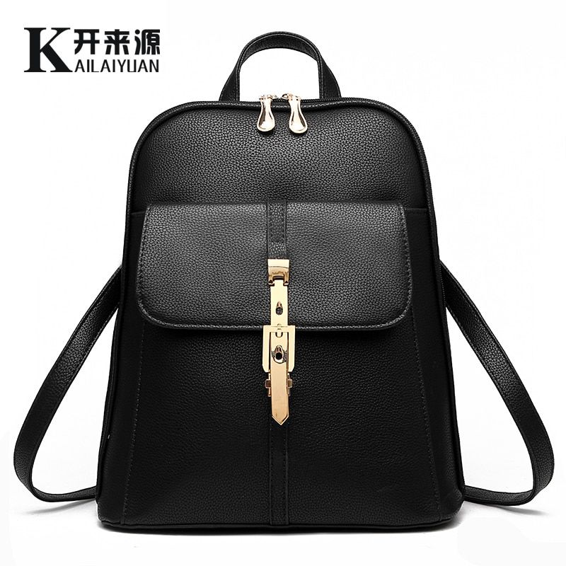 SNBS 100% Genuine leather Women backpack 2018 New wave of female students backpack spring and summer fashion casual Korean bag