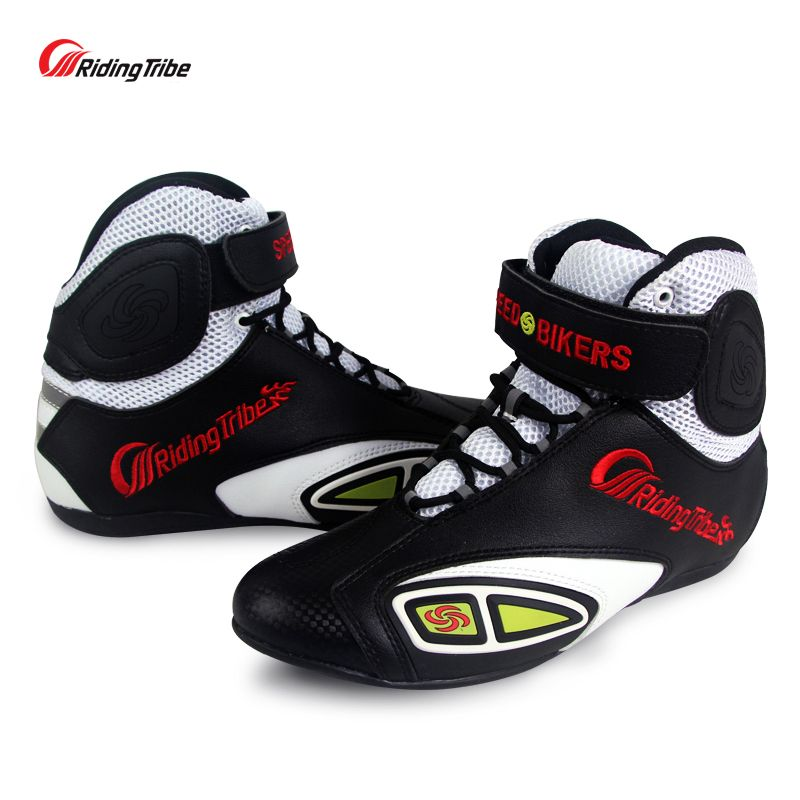 Motorcycle Racing boots Riding Tribe Microfiber Leather Breathable Locomotive shoes Street Moto Motorbike Summer Boots