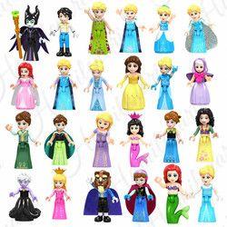8 Pcs Dongeng Putri Gadis Model Bangunan Boneka Angka Batu Bata Blok Anak-anak Teman Anak Mainan Kompatibel dengan LEGO Friends
