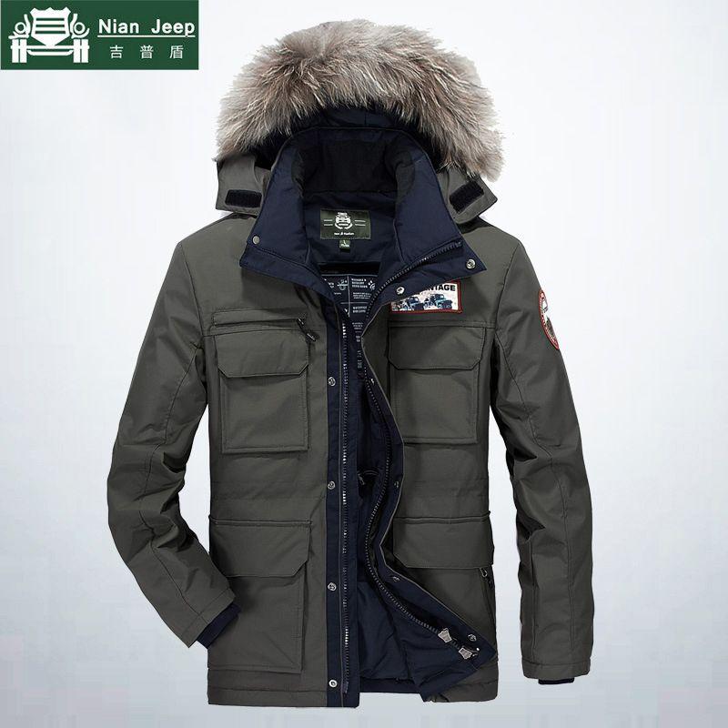 AFS JEEP Winter Jacke Männer Hohe Qualität Thick Windbreaker Hoodies Parka Warme Multi-tasche Pelz kragen Herren Mäntel Plus größe M-4XL